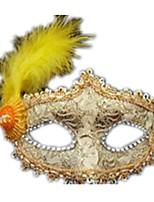 Маски на Хэллоуин Кружевная маска Кружева Тема ужаса Универсальные