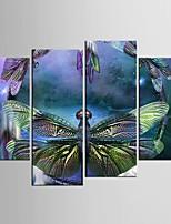 Impression sur Toile Abstrait,Quatre Panneaux Toile Toute forme Imprimé Décoration murale For Décoration d'intérieur