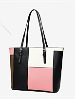 Women Bags All Seasons PU Tote with for Event/Party Casual Formal Outdoor Office & Career Blushing Pink Gray