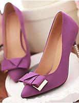 Mujer Zapatos Cuero Nobuck Primavera Confort Tacones Para Casual Morado Rojo