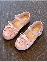 Girls' Flats Comfort Spring PU Casual White Gray Blushing Pink Flat