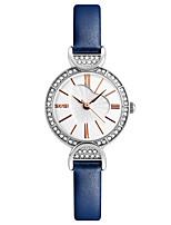 Skmei® Women's Dress Leather Strap Quartz Rhinestones Wrist Watch 30m Waterproof Assorted Colors