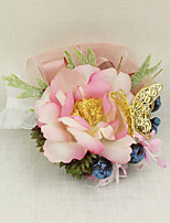 Wedding Flowers Grace Wrist Corsages Wedding / Special Occasion Metal / Satin / Fabric The Bride's Wrist Flower 1 Piece