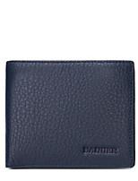 Men Checkbook Wallet Cowhide All Seasons Round Zipper Black