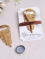Gilded Gold Feather Bottle Opener