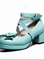 Mujer Zapatos Cuero Nobuck PU Primavera Verano Confort Tacones Para Casual Púrpula Claro Verde Rosa claro
