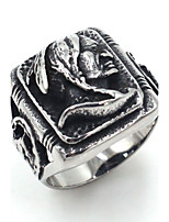 Men's Band Rings Jewelry Rock Gothic Stainless Steel Skull / Skeleton Jewelry For Street Club