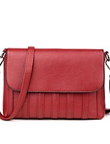 Women Bags All Seasons PU Shoulder Bag with for Wedding Event/Party Casual Formal Office & Career Green Black Red Gray