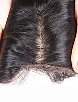 8inch -20inch recto de seda recto 4x4 100% pelo humano de pelo de seda base de encaje frontal pelo del bebé