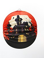 1PC Festival Decoration Halloween Paper Pendant Lantern Ornaments Random style