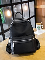 Women Backpack Oxford Cloth All Seasons Casual Round Zipper Black