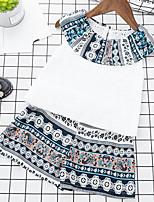 Robe Fille de Imprimé Coton Polyester Eté Sans Manches