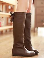 Для женщин Обувь Полиуретан Осень Зима Удобная обувь Ботинки Назначение Повседневные Белый Черный Коричневый Хаки
