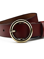 Ladies Fashion Casual Metal Leather Wide Belt