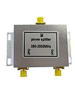 Divisor de energia 2 saídas divisor de sinal gps divisor de sinal do telefone celular distribuidor de sinal wifi 380 - 2500mhz divisor de