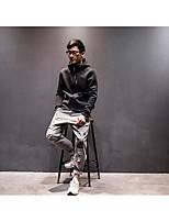 Felpa con cappuccio Da uomo Semplice Casual Tinta unita Con stampe Media elasticità Cotone Manica lunga Primavera