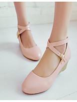 Damen Schuhe PU Sommer Komfort High Heels Für Normal Silber Beige Blau Rosa