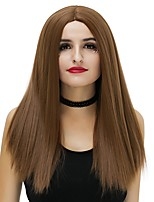 Women Synthetic Wig Capless Medium Straight Black Brown Grey Red Pink Natural Wig Halloween Wig Party Wig Carnival Wig Costume Wigs