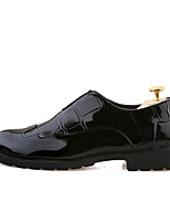 Men's Shoes Patent Leather Fall Winter Formal Shoes Wedding Shoes Gore For Wedding Party & Evening Black Wine