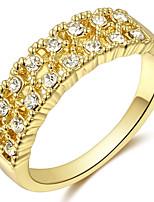 Settings Ring Luxury Women's Euramerican Fashion 3 Colors  Birthday Wedding Movie Gift Jewelry