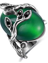 Жен. Кольца для пар Кольца на вторую фалангу Классические кольца Опал Базовый дизайн Pоскошные ювелирные изделия Классика Elegant Мода По
