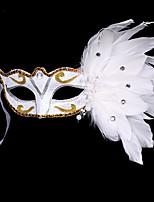 1pc pequeña venda del pelo del sombrero para el partido del traje de Víspera de Todos los Santos la máscara plana de la pluma de la