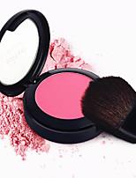 bronzé pressé face naturelle couleur de la joue poudre durable blush blush maquillage palette miroir brosse