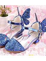 Girls' Flats Comfort Spring Paillette PU Casual Silver Blue Blushing Pink Flat
