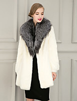 Women's Fashion Wrap Coats/Jackets Faux Fur Wedding Party/ Evening / Casual Long Sleeve Fur Lapels Coats/Jacket