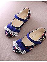 Girls' Flats Comfort Spring Leatherette Casual Fuchsia Blue Blushing Pink Flat