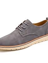 Для мужчин Туфли на шнуровке Удобная обувь Светодиодные подошвы Осень Зима Натуральная кожа Оксфорд Кожа Полиуретан Повседневные На