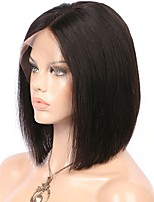Hot Sale Silky Straight 8-12 Inch Short Bob Wig Virgin Brazilian Human Hair Glueless 13x6 Deep Parting Bob Lace Front Wig