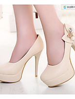 Women's Shoes Nubuck leather PU Summer Comfort Heels For Casual White Beige Blue Blushing Pink