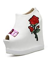 Для женщин Ботинки Удобная обувь Оригинальная обувь Светодиодные подошвы Кожа Дерматин Осень ЗимаСвадьба Повседневные Для праздника Для