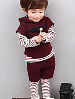Boys' Stripes Solid Sets,Cotton Spring Fall Long Sleeve Clothing Set