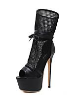 Для женщин Ботинки Светодиодные подошвы Удобная обувь Оригинальная обувь Кожа Лето ОсеньСвадьба Повседневные Для вечеринки / ужина Для