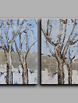 Ручная роспись Абстракция Вертикальная,Modern 2 панели Холст Hang-роспись маслом For Украшение дома