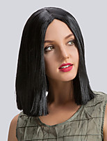Lustrous  Enchanting  Midsplit Medium Long Straight Hair Synthetic Wigs