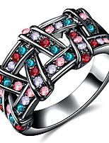 Settings Ring Luxury Euramerican Fashion Elegant Noble  Birthday Multicolor Business Movie Gift Jewelry