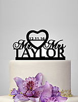 Personalized Acrylic Bride And Groom Classical Wedding Cake Topper