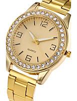 Damen Modeuhr Armbanduhr Armbanduhren für den Alltag Quartz Edelstahl Band Bettelarmband Cool Bequem Luxuriös Elegante Silber Gold Rotgold