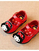Girls' Flats Comfort First Walkers Spring Fall Leatherette Casual Blushing Pink Red White Flat