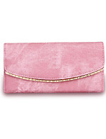 Women Checkbook Wallet PU All Seasons Shopping Daily Casual Formal Office & Career Cuboid Magnetic Blushing Pink Ruby Gray Black
