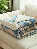 Flannel Floral Polyester Cotton Blend Blankets