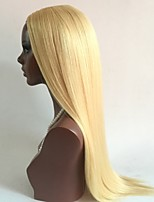 NEW!!!! Bleach Blonde#613 Straight Style Glueless Lace Front Wigs With Baby Hair 100% Brazilian Virgin Hair Wigs for Black Woman