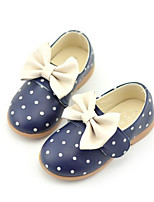 Girls' Flats Comfort Spring Leatherette Casual Beige Navy Blue Blushing Pink Flat