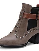 Damen Stiefel WalkingT-Riemen Komfort Neuheit Gladiator Cowboystiefel / Westernstiefel Reitstiefel Modische Stiefel Motorradstiefel
