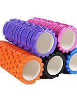 Professional Highl Level Yoga Pilates Fitness Foam Roller Hollow Shaft Roller Wheel Foam Mace Depth Massage Stick(Random Color)