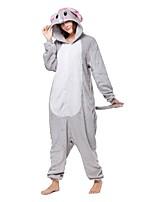 kigurumi Pyjamas Eléphant Fête / Célébration Pyjamas Animale Halloween Mode Brodée Flanelle Costumes de Cosplay Chaussures Kigurumi Pour