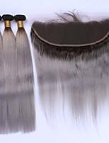 Волосы Уток с закрытием Бразильские волосы Прямые 12 месяцев 4 предмета волосы ткет кг Пряди с быстрым креплением